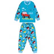 20-125113 Пижама утепленная для мальчика, 2-6 лет, бирюзовый