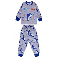 20-125115 Пижама утепленная для мальчика, 2-6 лет, меланж