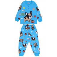 20-125112 Пижама утепленная для мальчика, 2-6 лет, голубой