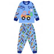 20-125111 Пижама утепленная для мальчика, 2-6 лет, васильковый