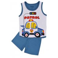 20-131605 Комплект для мальчика майка-шорты, 1-4 года, синий