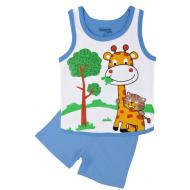 20-131606 Комплект для мальчика майка-шорты, 1-4 года, голубой