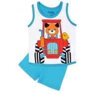 20-131608 Комплект для мальчика майка-шорты, 1-4 года, бирюзовый