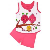 20-131701 Комплект для девочки майка-шорты, 1-4 года, розовый