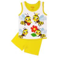 20-131704 Комплект для девочки майка-шорты, 1-4 года, желтый