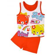 20-131705 Комплект для девочки майка-шорты, 1-4 года