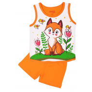 20-131706 Комплект для девочки майка-шорты, 1-4 года, оранжевый