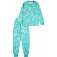 20-13544 Пижама для девочки, 7-11 лет, ментоловый