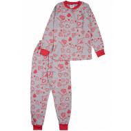 20-13543 Пижама для девочки, 7-11 лет, меланж