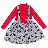 20-13773 Платье для девочки, 2-6 лет, красный