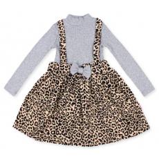 20-13775 Платье для девочки, 2-6 лет, серый