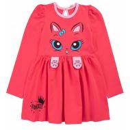 20-137801 Платье для девочки, 3-7 лет, малиновый