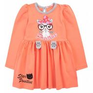 20-137802 Платье для девочки, 3-7 лет, персиковый