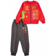 20-13844 Костюм для мальчика, 2-6 лет, красный