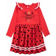 20-13902 Платье для девочки, 5-8 лет, красный