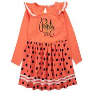 20-13904 Платье для девочки, 5-8 лет, персиковый