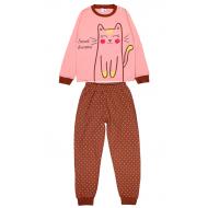 20-1395203 Пижама для девочки, 9-12 лет, розовый