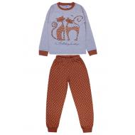 20-1395204 Пижама для девочки, 9-12 лет, меланж
