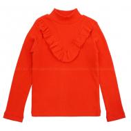 20-14163 Водолазка для девочки, кашкорсе, 3-7 лет, красный
