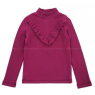 20-14164 Водолазка для девочки, кашкорсе, 3-7 лет, бордовый
