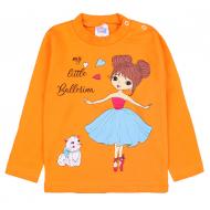 20-2-006203 Джемпер для девочки, 1-4 года, оранжевый