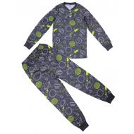 20-313541 Пижама для мальчика, 7-11 лет, антрацит