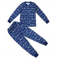 20-313544 Пижама для мальчика, 7-11 лет, синий
