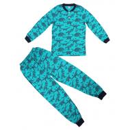 20-313543 Пижама для мальчика, 7-11 лет, бирюза