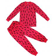 20-13545 Пижама для девочки, 7-11 лет, красный