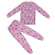20-13546 Пижама для девочки, 7-11 лет, розовый