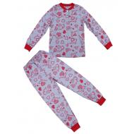 20-13547 Пижама для девочки, 7-11 лет, меланж