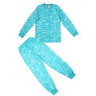 20-13548 Пижама для девочки, 7-11 лет, бирюза