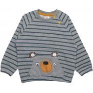 20-3281 Кофточка для малышей велюровая, 62-80, серый