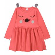 20-3681 Платье для девочки, 2-5 лет, коралловый