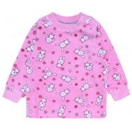 20-3962 Кофточка для малышей велюровая, 62-80, розовый
