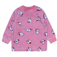 20-3963 Кофточка для малышей велюровая, 62-80, персиковый