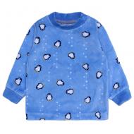 20-3964 Кофточка для малышей велюровая, 62-80, голубой
