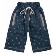 20-7551 Удлиненные шорты для мальчика, 5-8 лет, джинсовый