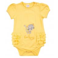 """20-4952 """"Lovely Cat"""" Боди для малышки, 62-80, желтый"""