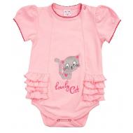 "20-4953 ""Lovely Cat"" Боди для малышки, 62-80, розовый"