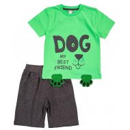 20-4982 Костюм для мальчика, 1-4 года, зеленый