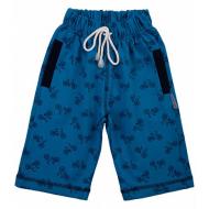 20-7552 Удлиненные шорты для мальчика, 5-8 лет, т-бирюзовый
