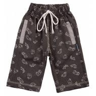 20-7554 Удлиненные шорты для мальчика, 5-8 лет, графит