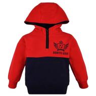20-8182 Толстовка с капюшоном для мальчика, 4-8 лет, красный