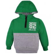 20-8184 Толстовка с капюшоном для мальчика, 4-8 лет, зеленый