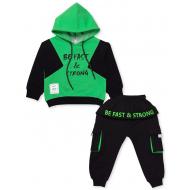 20-9601 Костюм для мальчика с капюшоном, 3-7 лет, зеленый