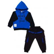 20-9603 Костюм для мальчика с капюшоном, 3-7 лет, синий