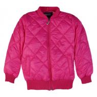 20-0623 Куртка стеганная для девочки, 3-7 лет, малиновый