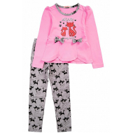"""20-13804 """"Кошки"""" Костюм для девочки, 3-7 лет, розовый"""