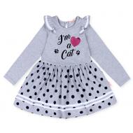 20-13901 Платье для девочки, 5-8 лет, меланж